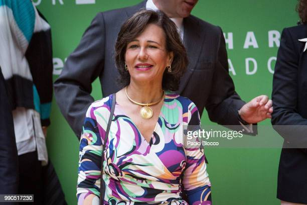 Ana Patricia Botin attends an event organized by 'Mujeres Por Africa' Foundation on July 3 2018 in Madrid Spain