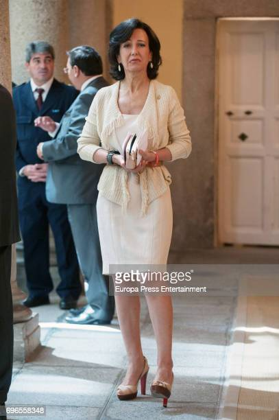 Ana Patricia Botin attends the meeting with members of Princess of Asturias Foundation at El Pardo palace on June 16 2017 in Madrid Spain