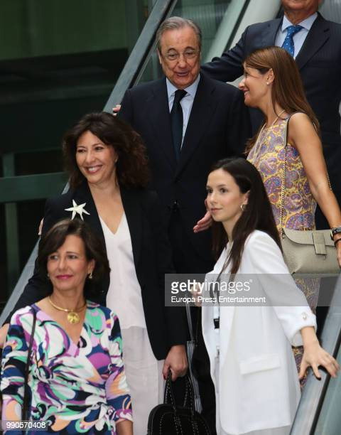 Ana Patricia Botin Cristina Alvarez Guil and Florentino Perez attend an event organized by 'Mujeres por Africa' Foundation on July 3 2018 in Madrid...
