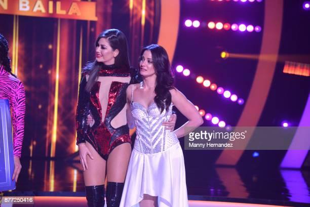 Ana Patricia Gamez and Dayanara Torres at Mira Quien Baila Finals at Univision Studios on November 19 2017 in Miami FL