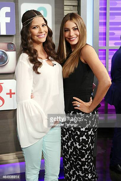 Ana Patricia Gamez and Sofia Vergara wake up in Miami with Univision's Despierta America to talk health love and life at Univision Studios on...