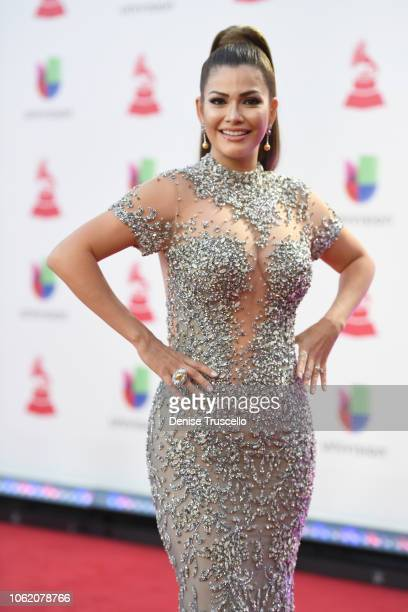 Ana Patricia Gamez attends the 19th annual Latin GRAMMY Awards at MGM Grand Garden Arena on November 15 2018 in Las Vegas Nevada