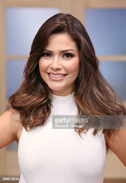 Ana Patricia Gamez is seen on the set of 'Despierta America' at Univision Studios on September 1 2016 in Miami Florida