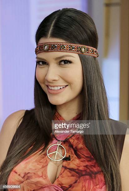 Ana Patricia Gamez is seen on the set of Despierta America at Univision Headquarters on October 9 2014 in Miami Florida