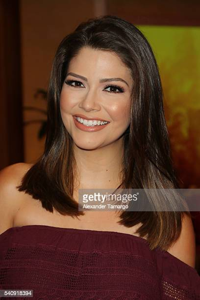 Ana Patricia Gamez is seen on the set of 'Despierta America' at Univision Studios on June 17 2016 in Miami Florida