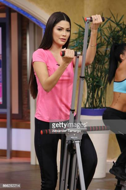 Ana Patricia Gamez is seen on the set of 'Despierta America' at Univision Studios on October 25 2017 in Miami Florida