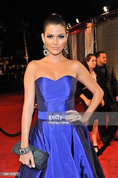 Ana Patricia Gonzalez arrives at the Premio Lo Nuestro a La Musica Latina at American Airlines Arena on February 16 2012 in Miami Florida