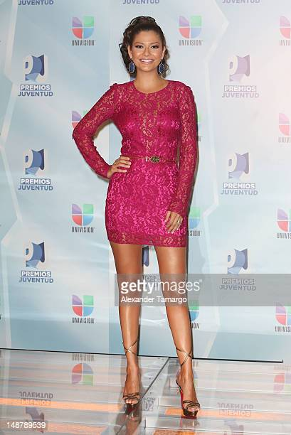 Ana Patricia Gonzalez arrives at Univision's Premios Juventud Awards at Bank United Center on July 19 2012 in Miami Florida