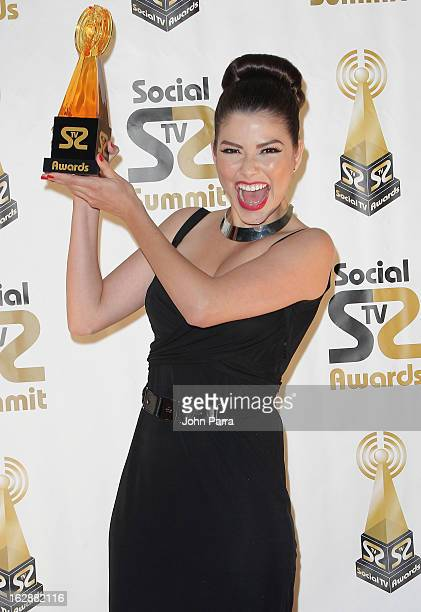 Ana Patricia Gonzalez attends the 2013 Latin Social TV Awards at Fontainebleau Miami Beach on February 28 2013 in Miami Beach Florida