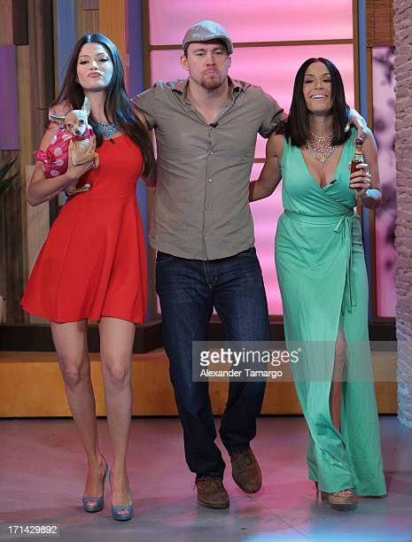 Ana Patricia Gonzalez Channing Tatum and Karla Martinez appear on Univision's 'Despierta America' to promote film 'White House Down' at Univision...