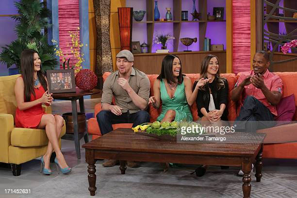 Ana Patricia Gonzalez Channing Tatum Karla Martinez Maria Elisa Camargo and Jamie Foxx appear on Univision's 'Despierta America' to promote film...