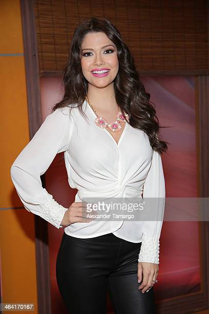 Ana Patricia Gonzalez is seen on the set of Univision's Despierta America at Univision Headquarters on January 21 2014 in Miami Florida