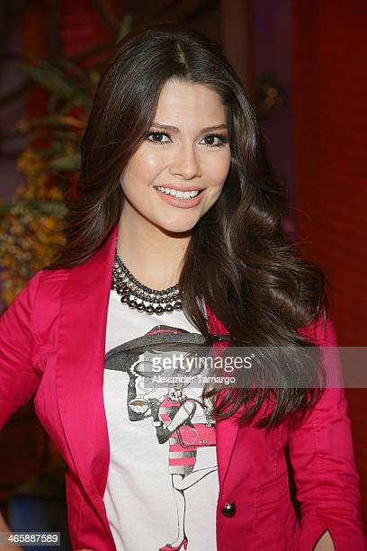 """Ana Patricia Gonzalez is seen on the set of Univision's """"Despierta America"""" promoting the movie """"Pompeii"""" at Univision Headquarters on January 30,..."""