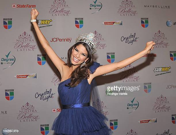 Ana Patricia Gonzalez poses at The Grand Finale of Nuestra Belleza Latina Nuestra Belleza Latina on May 23 2010 in Miami Florida