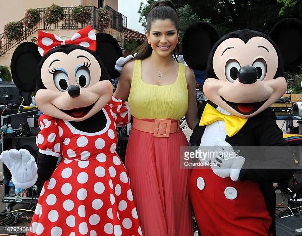 Ana Patricia Gonzalez poses during Univision's morning show Despierta America 16th anniversary at Epcot Center Walt Disney World on May 3, 2013 in...