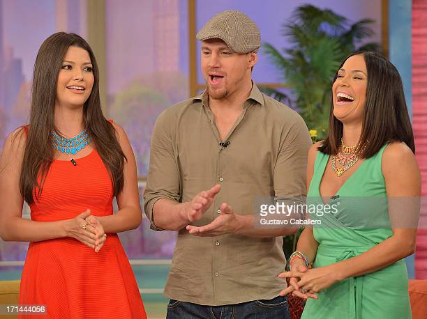 Ana Patricia GonzalezChanning Tatum and Karla Martinez appear on Univision's 'Despierta America' to promote film 'White House Down' at Univision...
