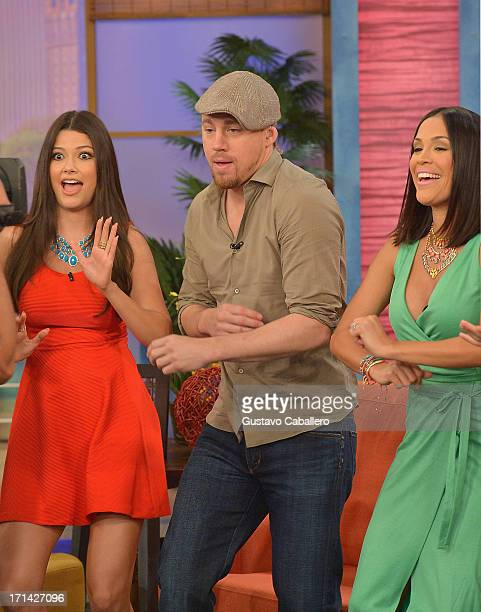 Ana Patricia GonzalezChanning Tatum and Karla Martinez appears on Univision's 'Despierta America' to promote film 'White House Down' at Univision...