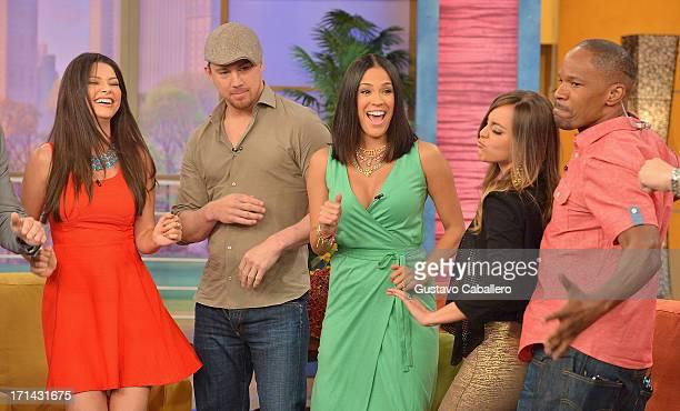 Ana Patricia GonzalezChanning TatumKarla Martinez Maria Elisa Camargo and Jamie Foxx appears on Univision's 'Despierta America' to promote film...