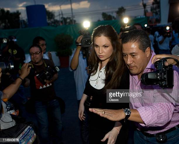 Ana Patricia Rojo attends the funeral of Yolanda Miranda at Gayasso Santa Fe on May 27 2011 in Mexico City Mexico