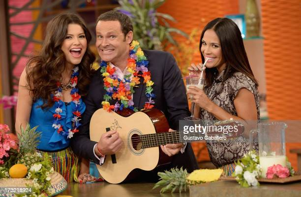 Ana PatriciaAlan Tacher and Karla Martinez visits Univisions 'Despierta America at Univision Headquarters on July 10 2013 in Miami Florida