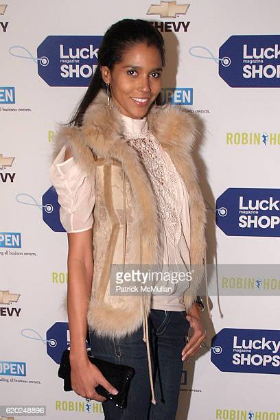 Ana Paula Araujo attends LUCKY MAGAZINE Hosts 5th Annual LUCKY SHOPS Benefitting ROBIN HOOD at Metropolitan Pavilion on November 6 2008 in New York...