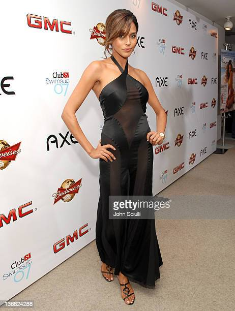 Ana Paula Araujo during 2007 Sports Illustrated Swimsuit Issue Red Carpet at Pacific Design Center in Los Angeles California United States