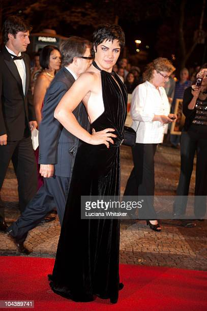 Ana Paula Arosio poses for photographers during the opening night of Rio International Film Festival at Cine Odeon on September 23 2010 in Rio de...