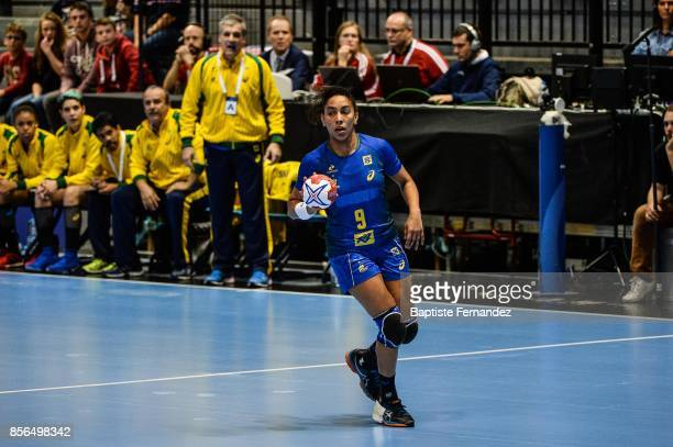 Ana Paula Belo of Brazil during the handball women's international friendly match between France and Brazil on October 1 2017 in TremblayenFrance...