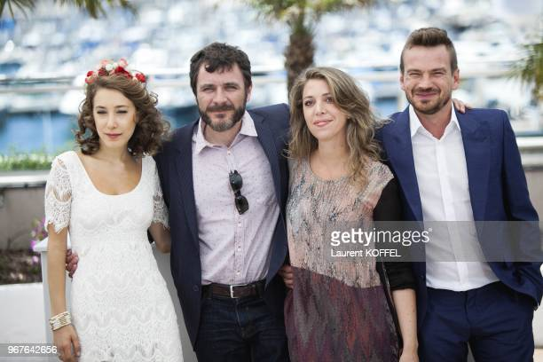 Ana Pauls Alex Brendemuhl Lucia Puenzo and Guillermo Pfening attend the photocall for 'Wacolda' during The 66th Annual Cannes Film Festival at Palais...
