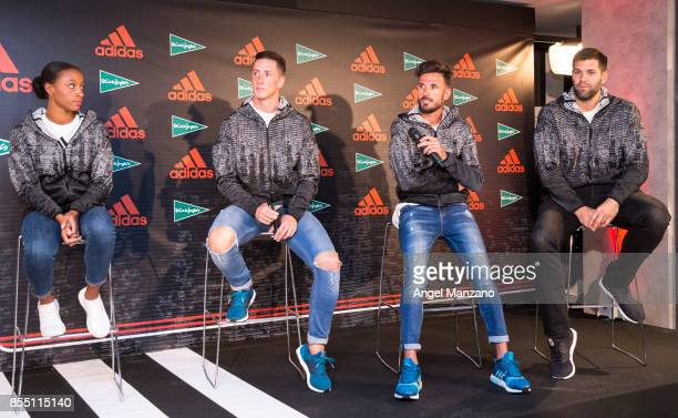 Ana Peleteiro Fernando Torres Chema Martinez and Felipe Reyes attend Athletics ZNE Pulse Presentation by Adidas at El Corte Ingles Sol on September...