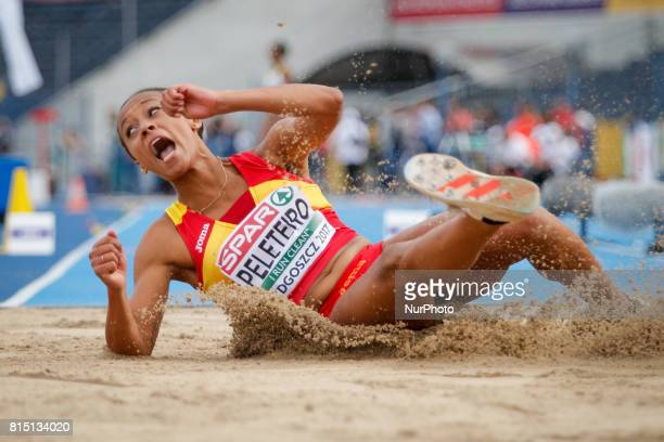 Ana Peleteiro is seen competing in the womens triple jump on 14 July 2017 in Bydgoszcz Poland during the European U23 IAAF Championships