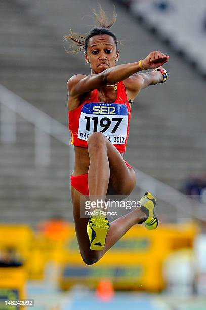 Ana Peleteiro of Spain competes for winning the gold medal during the Women's Triple Jump Final on the day three of the 14th IAAF World Junior...