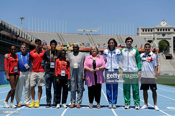 Ana Peleteiro of Spain CoPresident LOC Jose Maria Odriozola Didac Salas of Spain Braian Toledo of Argentina Faith Chepngetich Kipyegon of Kenya IAAF...