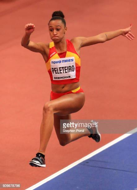Ana Peleteiro of Spain during the Triple Jump Womens Final during the IAAF World Indoor Championships on Day Three at Arena Birmingham on March 3...