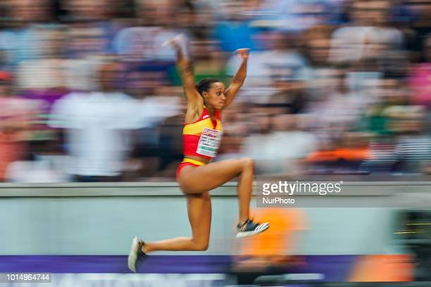 Ana Peleteiro of Spain during triple jump for women at the Olympic Stadium in Berlin at the European Athletics Championship/CSM on 10/8/2018