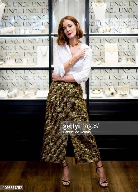 Ana Polovorosa attends during UNOde50' Store Presentation in Madrid on September 20 2018 in Madrid Spain