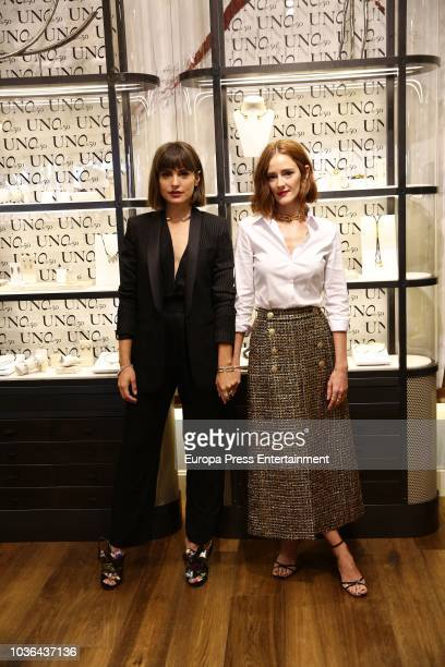 Ana Polvorosa and Veronica Echegui attend the UNOde50 new store presentation on September 20 2018 in Madrid Spain