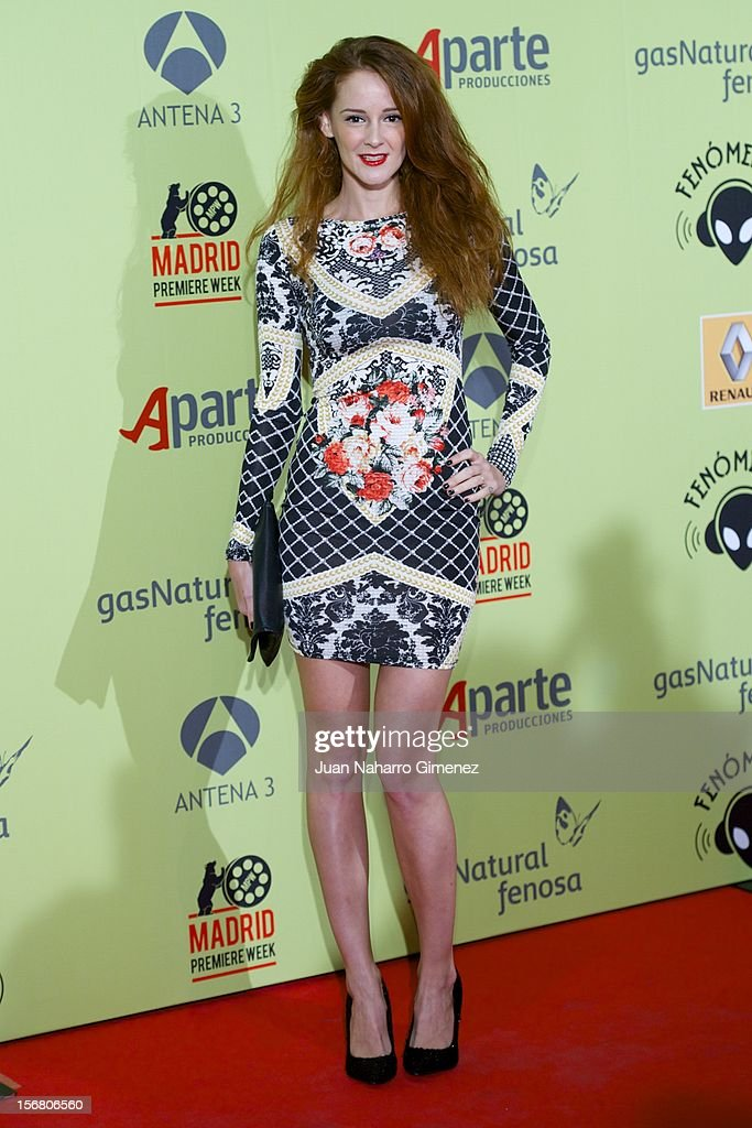 Ana Polvorosa attends 'Fenomenos' Premiere at Callao Cinema on November 21, 2012 in Madrid, Spain.