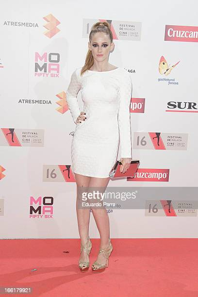 Ana Polvorosa attends Malaga Film Festival party photocall at MOMA 56 disco on April 9 2013 in Madrid Spain