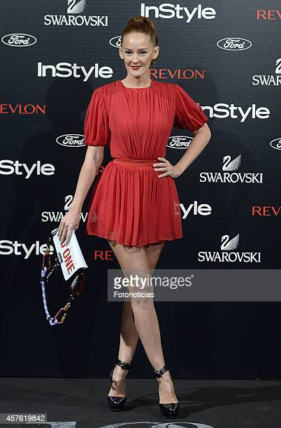 Ana Polvorosa attends the InStyle Magazine 10th anniversary party at Gran Melia Fenix Hotel on October 21 2014 in Madrid Spain