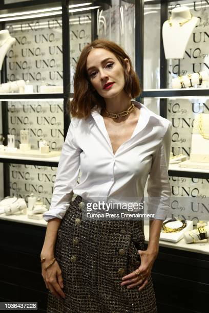 Ana Polvorosa attends the UNOde50 new store presentation on September 20 2018 in Madrid Spain
