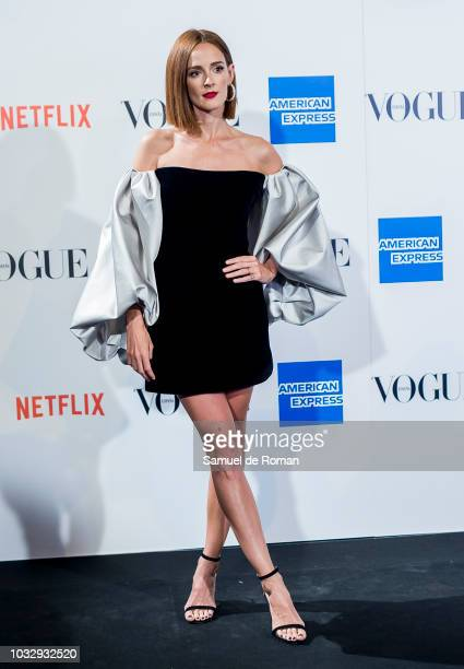 Ana Polvorosa attends the 'Vogue fashion's Night Out' photocall at Ortega y Gasset street on September 13 2018 in Madrid Spain