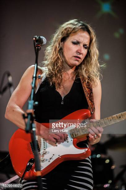 Ana Popovic is performing with her band at the Stargazers Theater in Colorado Springs, Colorado on August 21, 2015.