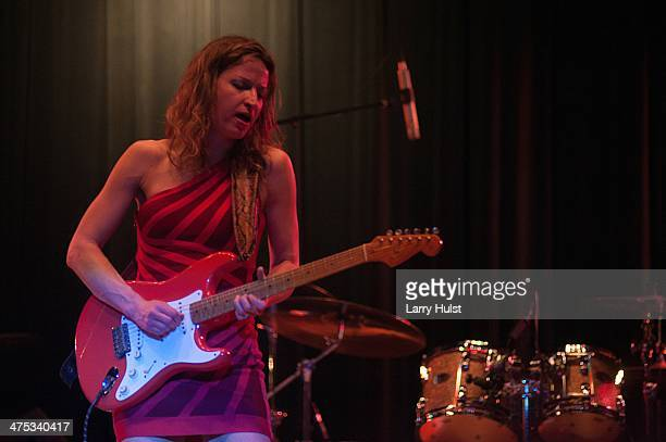 Ana Popovic performing at the El Jebel Event Center in Denver, Colorado on February 22, 2014.