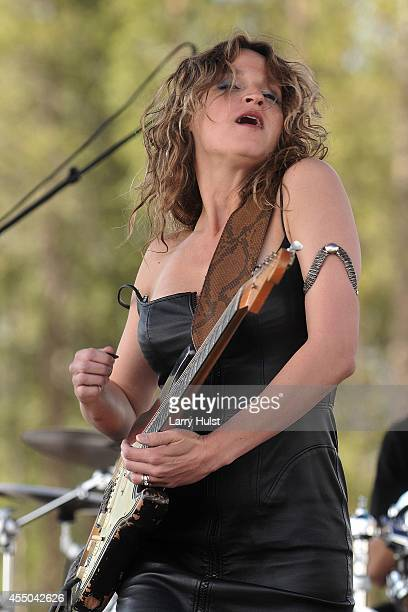 """Ana Popovic performs at 'Blues at the Top"""" festival in Winter Park, Colorado on June 9, 2010."""