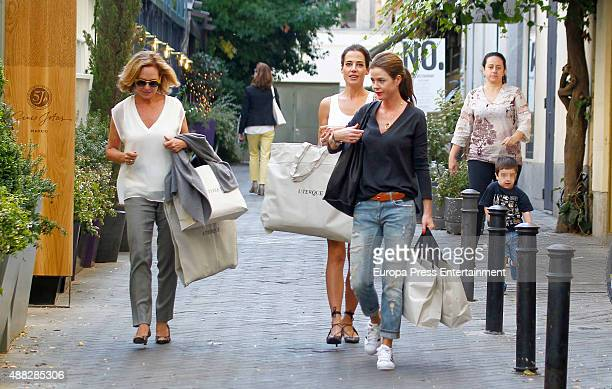 Ana Rodriguez Ana Bono and Amelia Bono are seen on September 14 2015 in Madrid Spain