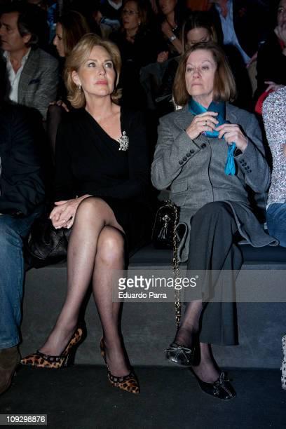 Ana Rodriguez and Natalia Figueroa attend the Roberto Torreta fashion show during the Cibeles Madrid Fashion Week A/W 2011 at Ifema on February 19...
