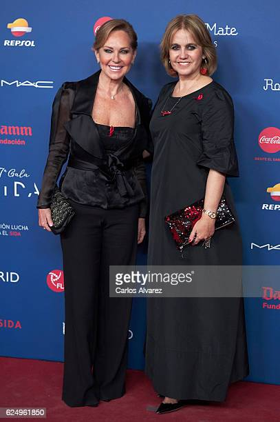 Ana Rodriguez and Rosa Tous Oriol attend 'Gala Sida' 2016 at Madrid City Hall on November 21, 2016 in Madrid, Spain.