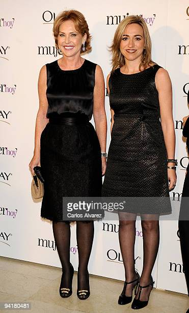 Ana Rodriguez and Spanish Minister of Defense Carme Chacon attend the ''Mujer de Hoy'' 2009 awards at ABC building on December 9 2009 in Madrid Spain