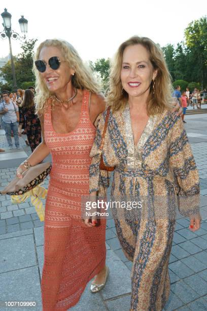 Ana Rodriguez attend the Pablo Lopez concert photocall at Royal Theatre on July 28 2018 in Madrid Spain